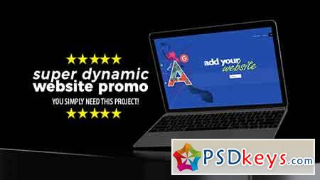 Super Dynamic Website Promo After Effects Template 21546387
