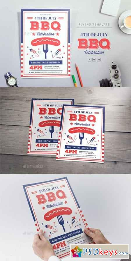4th of July BBQ Flyers 22100663