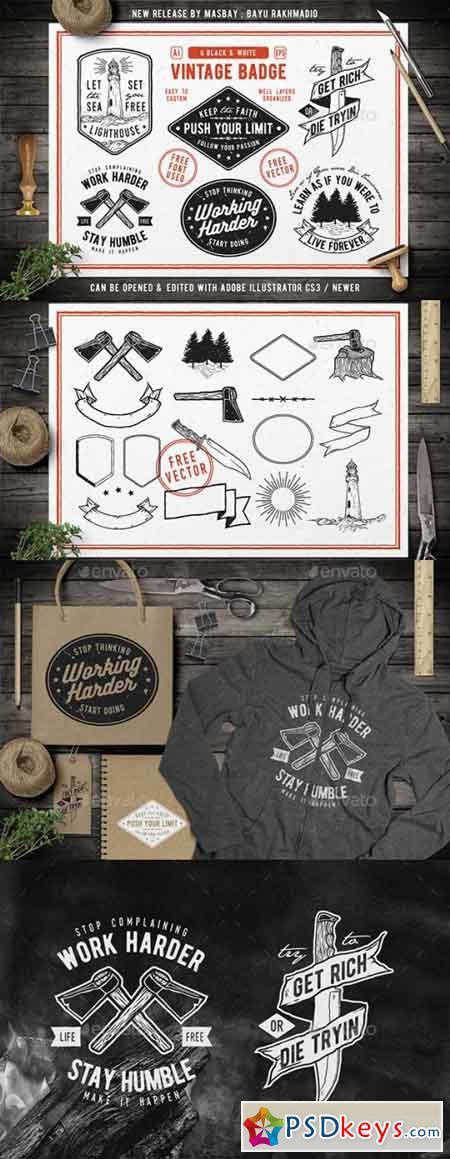 6 Hipster Vintage Badges 20492490