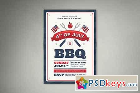 4th Of July BBQ Flyer 01