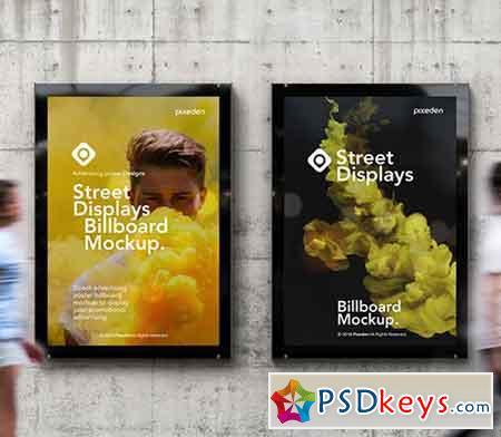 Billboard Street Displays Psd Mockup