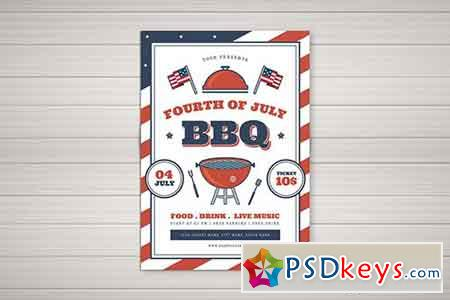 4th Of July BBQ Flyer 02