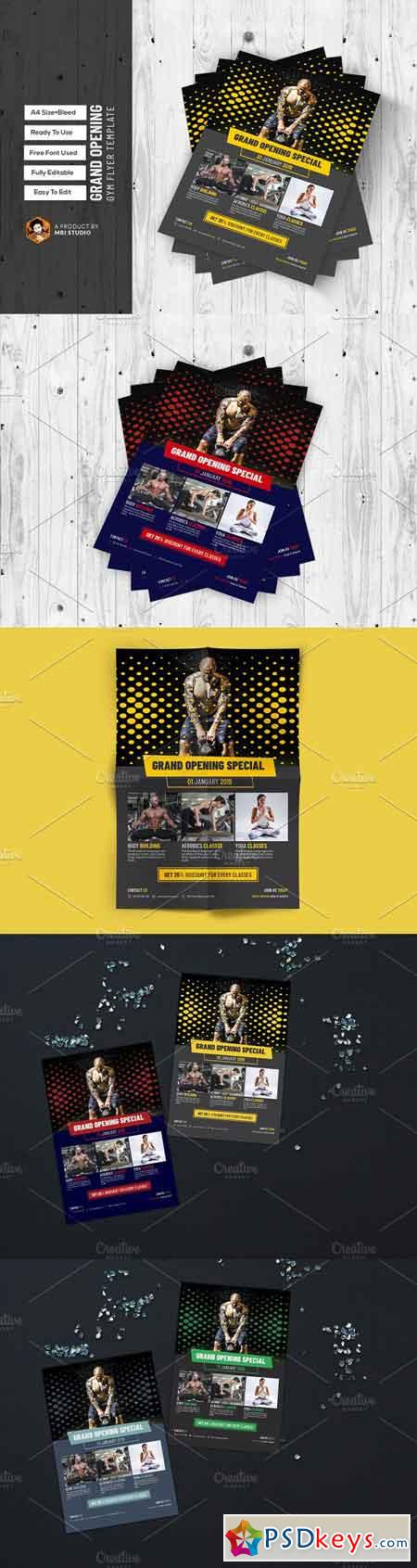 Grand Opening GYM Flyer Template 2634039