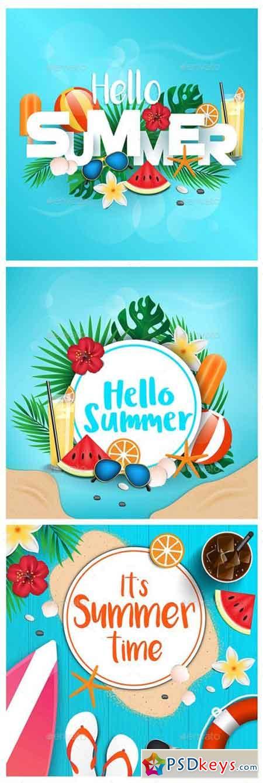 Hello Summer Typographic 22121111