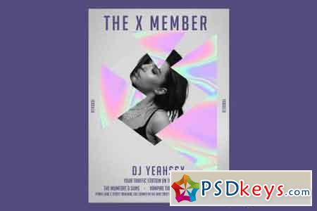 The X member Flyer Poster