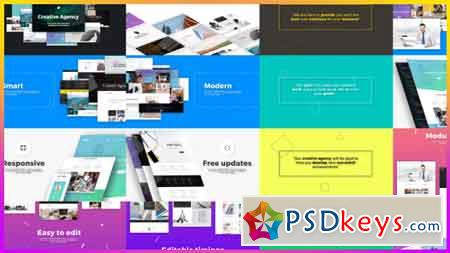Creative Agency Website Presentation After Effects Template 18979233