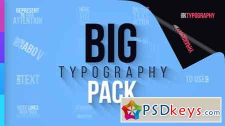 Big Typography Pack After Effects Template 21348986