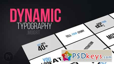 Dynamic Typography Mogrt Motion Graphics Template 21828674