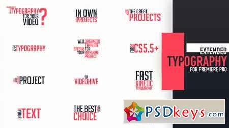 Extended Typography Mogrt Motion Graphics Template 21966968