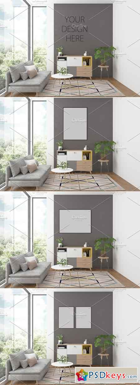 Artwork background Interior mockup 2582724