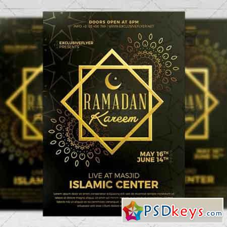 Ramadan Kareem Iftaar Party – Seasonal A5 Flyer Template