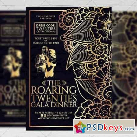 Roaring Twenties – Club A5 Flyer Template