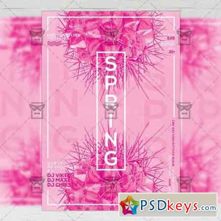 Spring Pop Art Party – Seasonal A5 Flyer Template