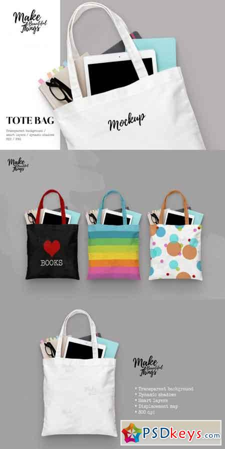 Isolated tote bag mockup #7012