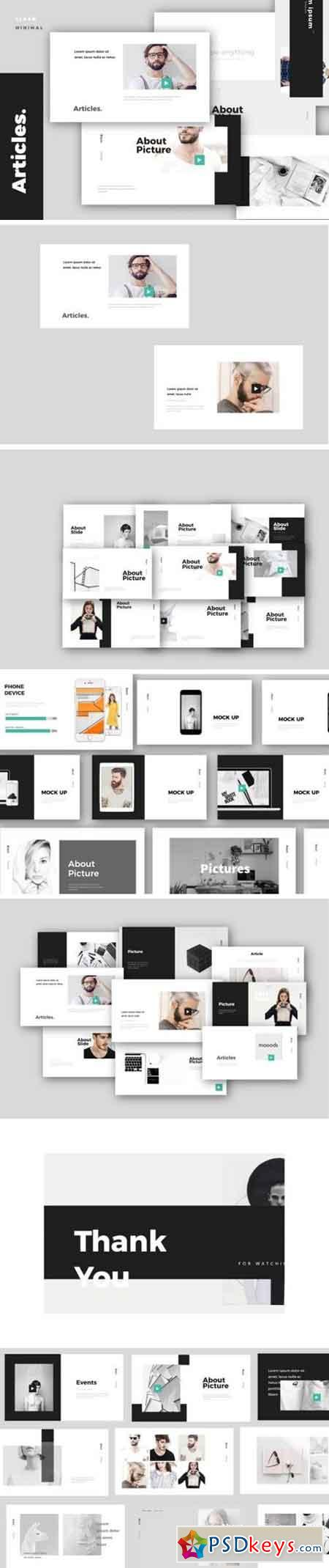 Articles. Modern Minimal Powerpoint & Keynote Template