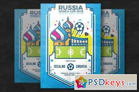 Football world cup flyer template 2