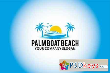 palm boat beach logo