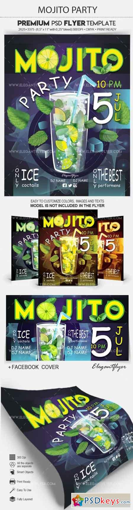 Mojito Party – Flyer PSD Template