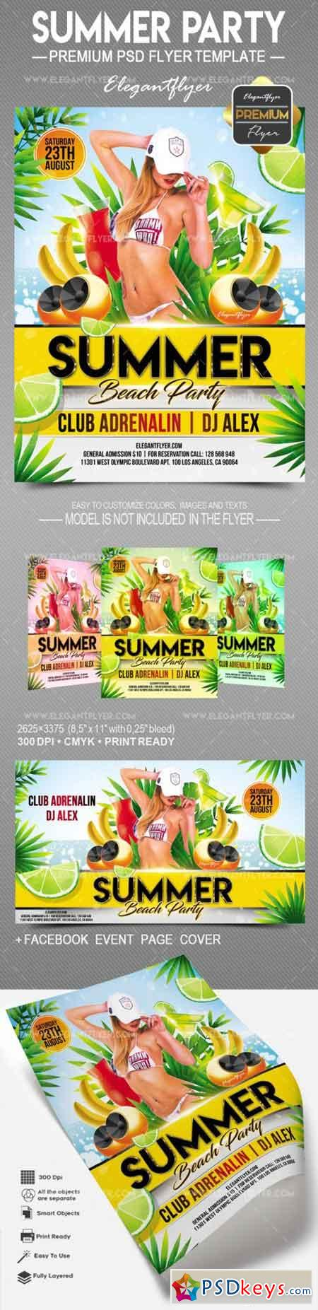 Summer Party – Flyer PSD Template
