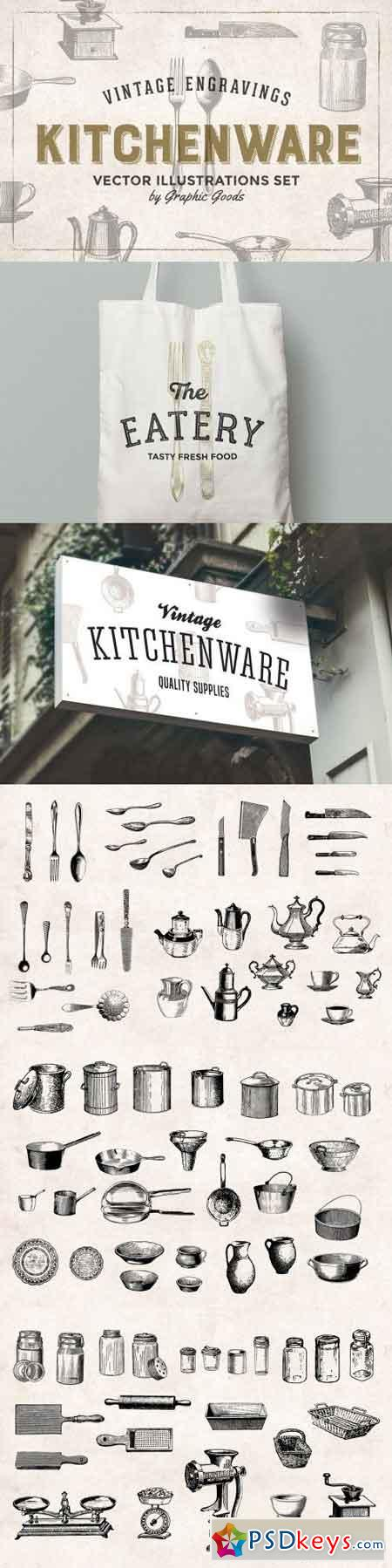 Kitchen Tools Engravings 543123