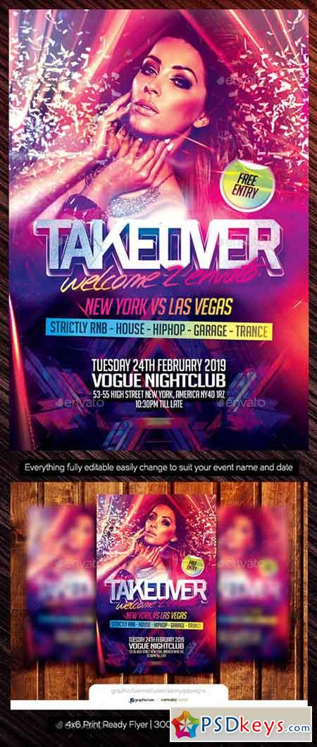 Takeover Club Flyer Template 22133085