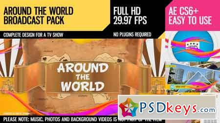 Around The World (Broadcast Pack) After Effects Template 10295119