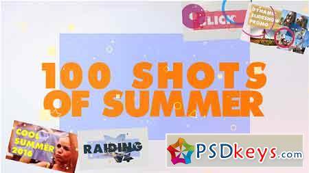 100 Shots of Summer Slideshow After Effects Template 17831020