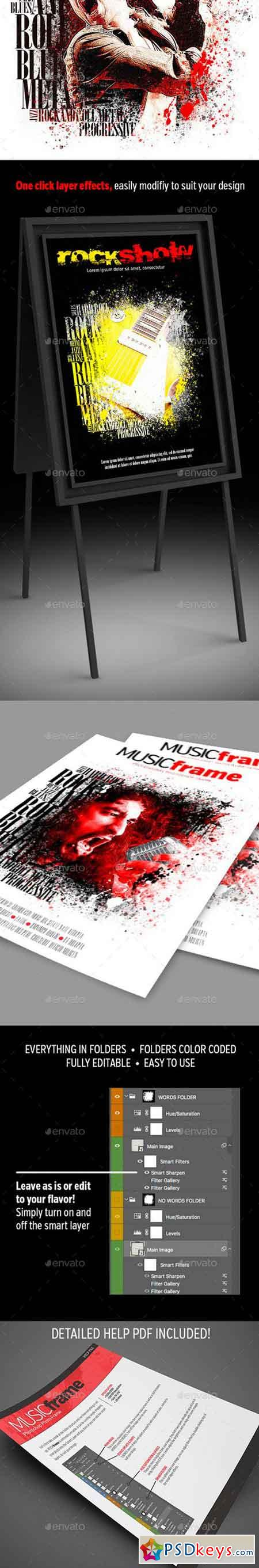 Music Frame Photo Template 21378910