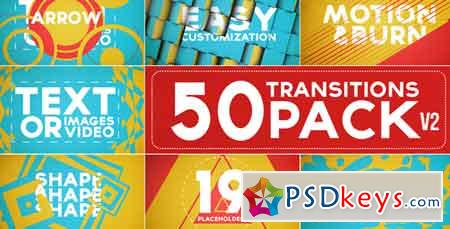 50 Transitions Pack with Opener After Effects Template 5243183
