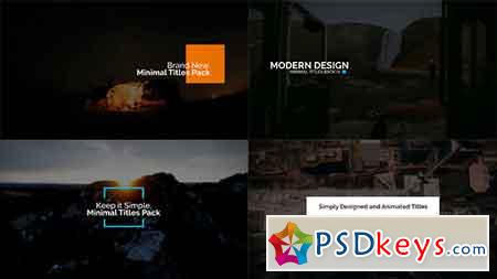 Minimal Intro Titles Pack lV After Effects Template 19383781