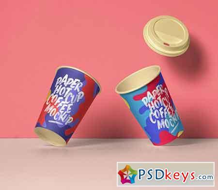 Psd Paper Hot Cup Template Vol 11