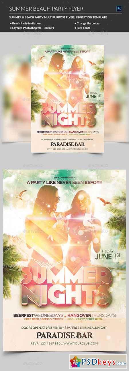 Summer Beach Party Flyer 22025409