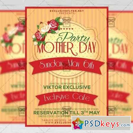 Mother Day Party – Seasonal A5 Flyer Template
