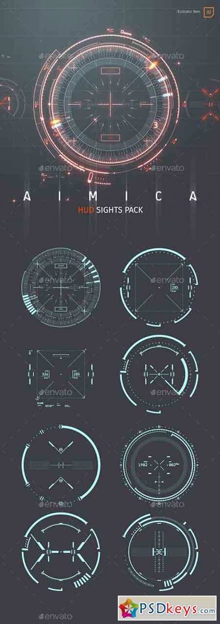 AIMICA HUD Sights for Futuristic GUI 22017617