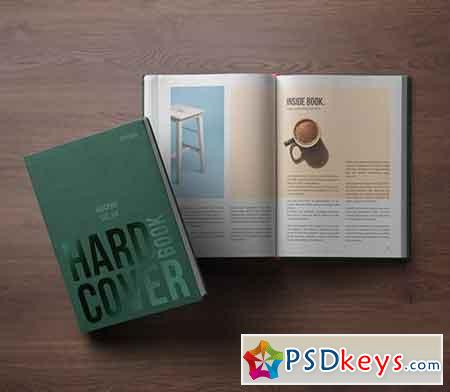 Psd Book Mockup Hardcover Vol 4