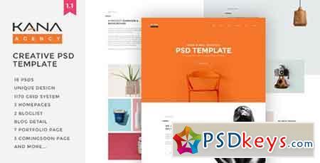 Kana - Creative Agency Psd Template 13114874