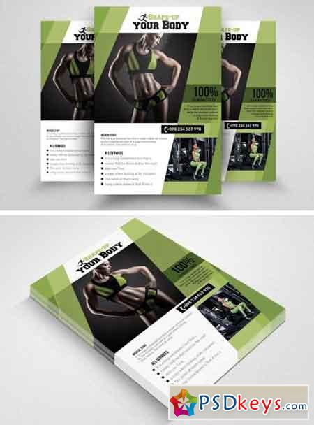 Fitness Gym PSD Flyer Templates 1570208