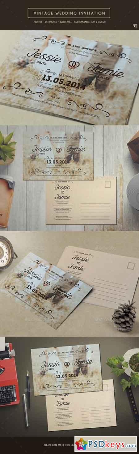 Vintage Wedding Invitation 16642682
