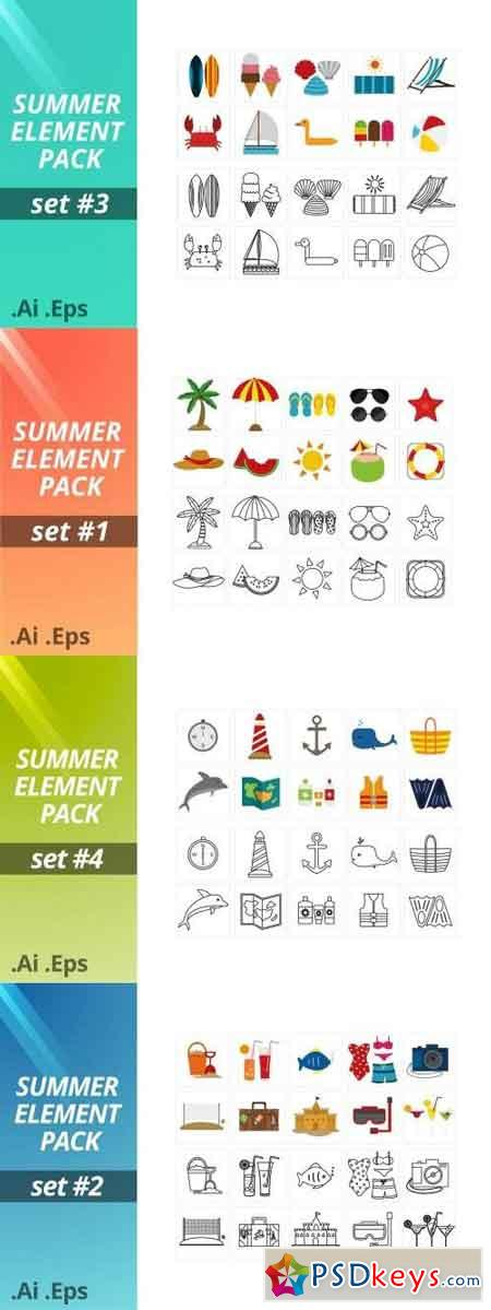 Summer Element Pack Set