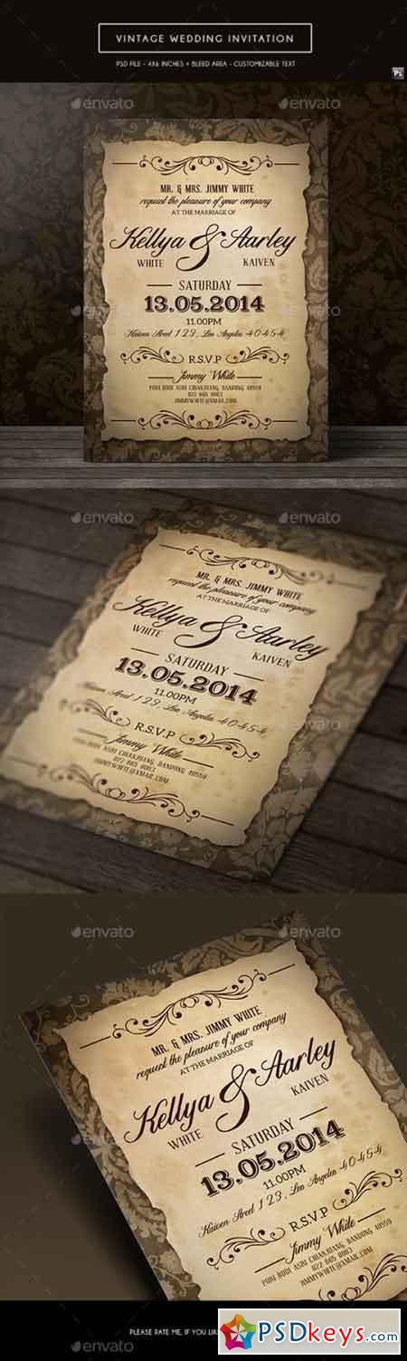 Vintage Wedding Invitation 19267460