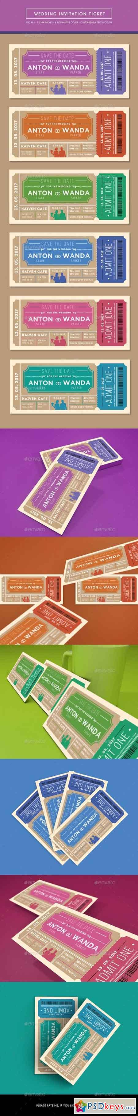 Wedding Invitation Ticket 16106112