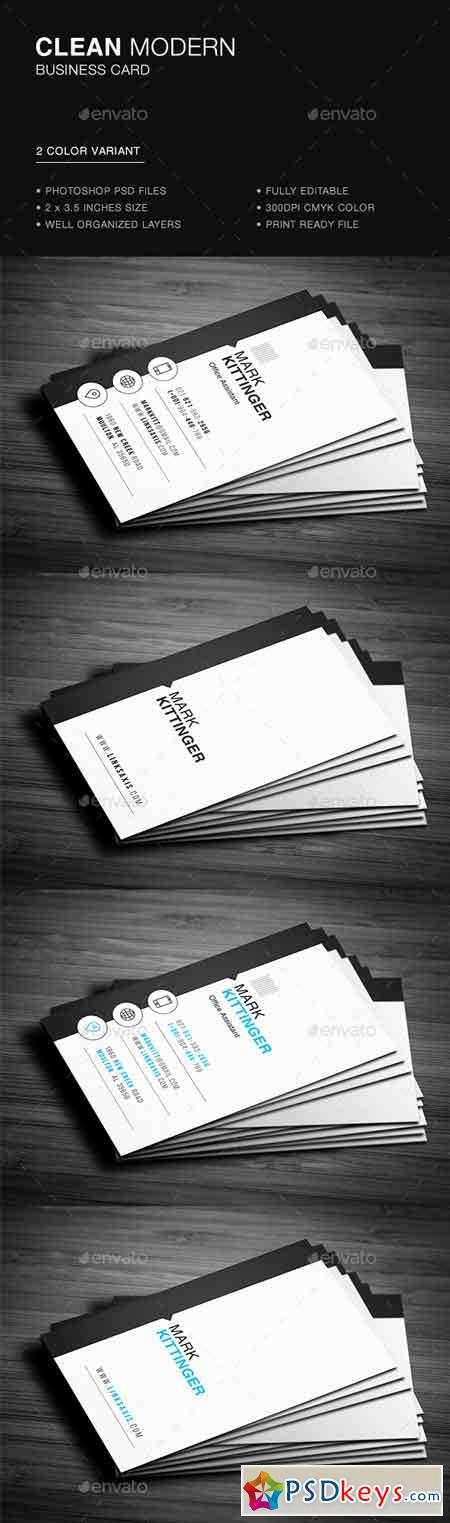 Clean Vertical Business Card 22070374