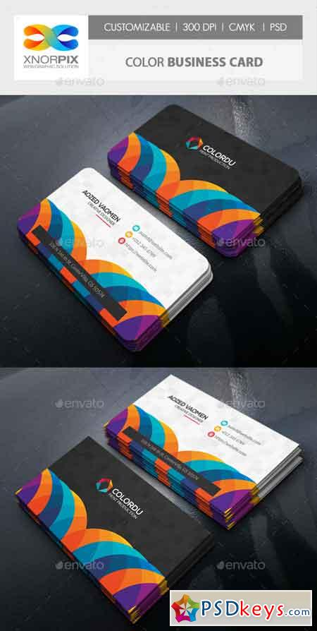 Color Business Card 22094545