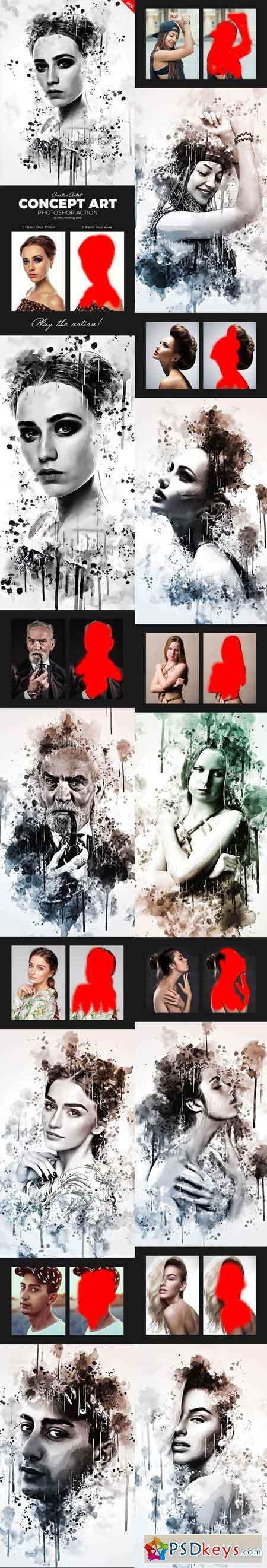 Concept Art Photoshop Action 22066186