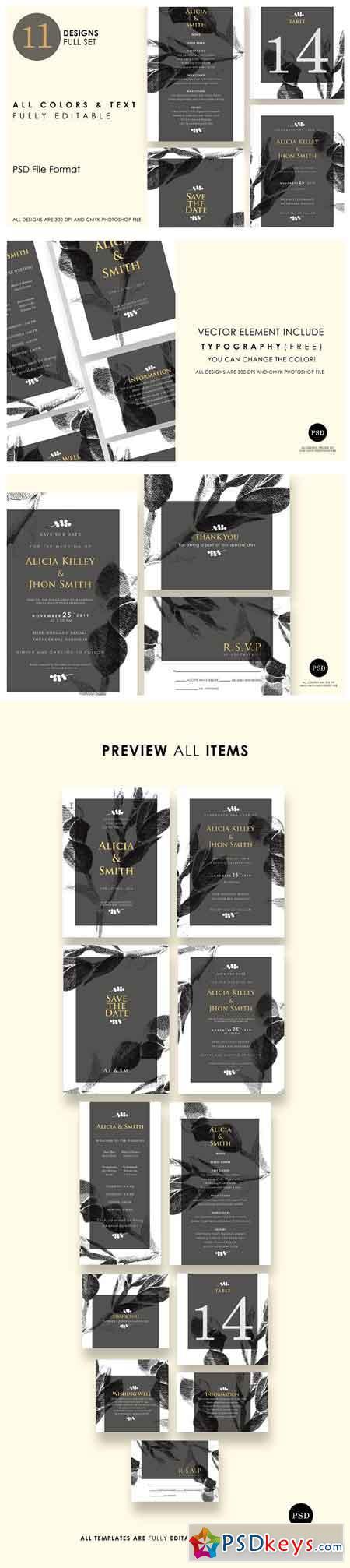 Minimalist Wedding Invitation Ac.7 2667468