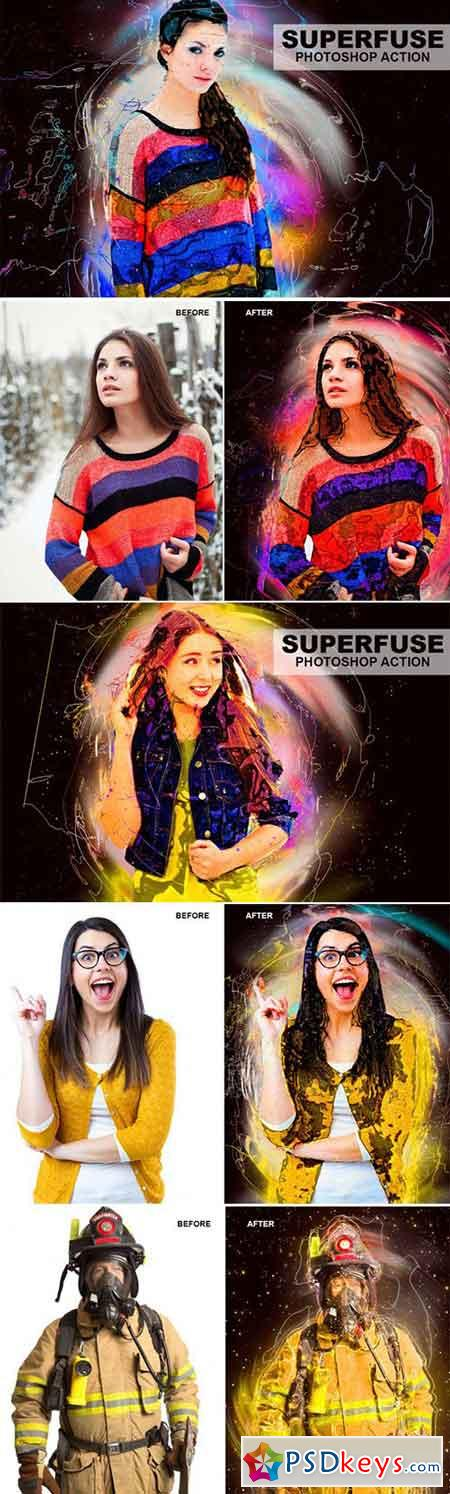 Superfuse Photoshop Action 3465334