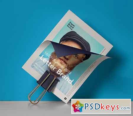 Psd Paper Brand Mockup Vol 8