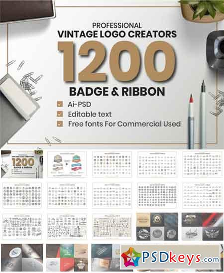 1200 Vintage Badge & Objects 3458114