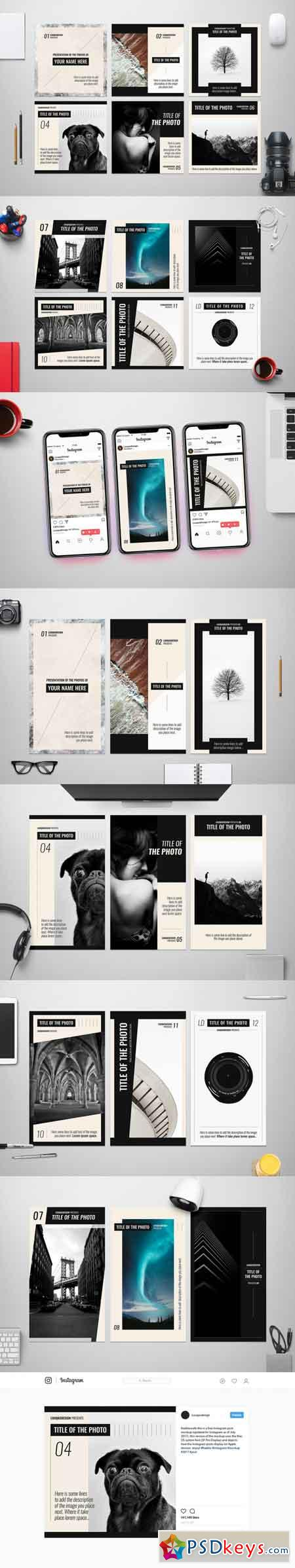 Photography Social Media Pack Template 3465488