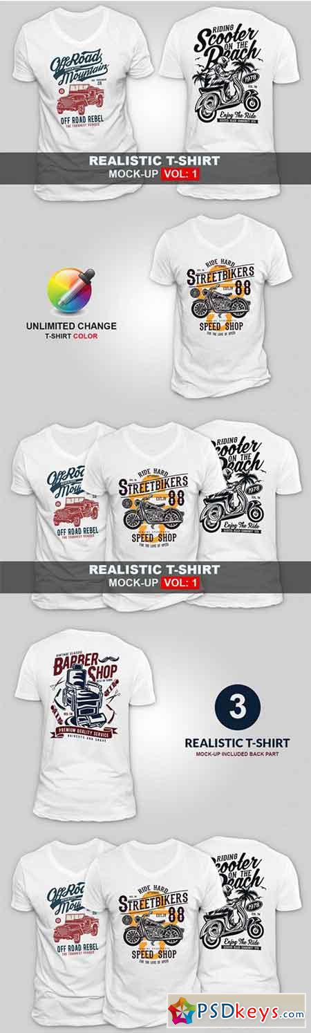 Realistic T-shirt Mock-up 3465353